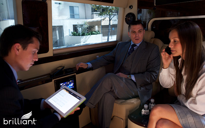 business meeting in a mobile office