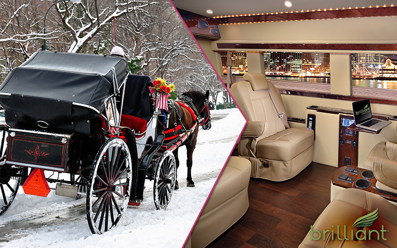 carriage vs limo valentines NYC