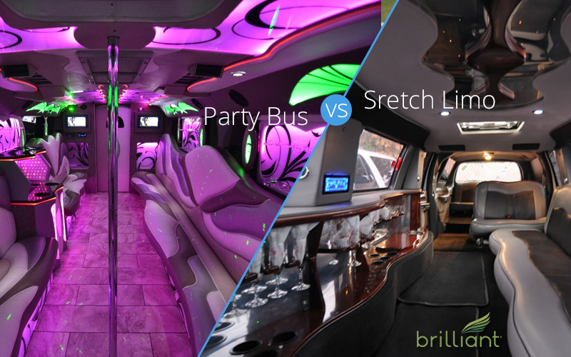 party bus stretch limo wedding